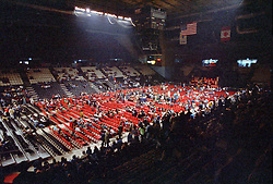Wide Angle view of the inside of The New Haven Coliseum before the Grateful Dead perform Live on 5 May 1977