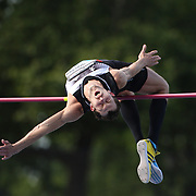 Bodan Bondarenko, Ukraine, in action in the Men's pole vault competition during the Diamond League Adidas Grand Prix at Icahn Stadium, Randall's Island, Manhattan, New York, USA.  <br />  World champion Bodan Bondarenko of Ukraine beat world indoor champion Mutaz Essa Barshim of Qatar in an epic high jump duel at New York's Diamond League meet on Saturday. Bondarenko and Barshim both cleared 2.42 meters - the first time two athletes jumped that high in the same competition - and both took shots at 2.46. Both were unable to surpass the 21-year-old world record of 2.45 set by Cuba's Javier Sotomayor in 1993 but their leaps still marked the best height cleared since Sotomayor jumped 2.42 in 1994. Diamond League Adidas Grand Prix at Icahn Stadium, Randall's Island, Manhattan, New York, USA. 14th June 2014. Photo Tim Clayton