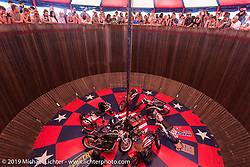 Inside  the American Motordrome Wall of Death on Sunday at the Handbuilt Motorcycle Show. Austin, TX. April 12, 2015.  Photography ©2015 Michael Lichter.