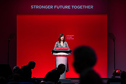 © Licensed to London News Pictures. 26/09/2021. Brighton, UK. LUCY POWELL speaks at the conference . The second day of the 2021 Labour Party Conference , which is taking place at the Brighton Centre . Photo credit: Joel Goodman/LNP