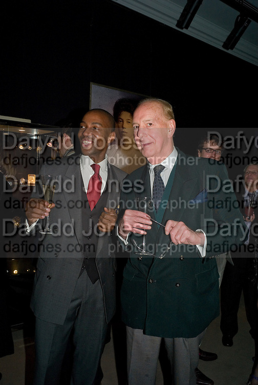 PRINCE TAYO ALFRED OYEKOYA; ANTHONY WIELER, Imperial and Royal Presents. Russian auction. Sotheby's. New Bond St. London. 23 November 2008.  *** Local Caption *** -DO NOT ARCHIVE-© Copyright Photograph by Dafydd Jones. 248 Clapham Rd. London SW9 0PZ. Tel 0207 820 0771. www.dafjones.com.