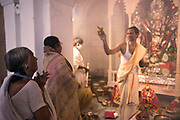 Devi Durga is manifestation of Parvati, the counterpart of Lord Shiva (The Supreme Lord), she is an expression of Adi Shakti (Primordial energy). This energy is the Divine Mother, the source of all creation in the universe and the energy that governs it. All goddesses are manifestations of Adi Shakti, either in loving, motherly form like Parvati, or in her destructive, warrior form like Kali or Durga.