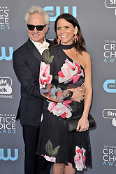 Bradley Whitford and Amy Landecker at The 23rd Annual Critics' Choice Awards held at the Barker Hangar on January 11, 2018 in Santa Monica, CA, USA (Photo by Sthanlee B. Mirador/Sipa USA)