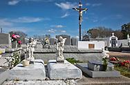 Holy Family Catholic CHurch Cemetery in Grand Caillou, Louisiana
