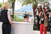 Actress Cate Blanchett with photographers at the photocall for the film How to Train Your Dragon 2 at the 67th Cannes Film Festival, Friday 16th May 2014, Cannes, France.