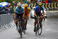 Men Road Race 230,4 km, Wout Van Aert (Belgium), Matteo Trentin (Italy) , during the Cycling European Championships Glasgow 2018, in Glasgow City Centre and metropolitan areas, Great Britain, Day 11, on August 12, 2018 - Photo Luca Bettini / BettiniPhoto / ProSportsImages / DPPI - Belgium out, Spain out, Italy out, Netherlands out -