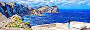 The rugged Cap de Formentor coast on Majorca, Balaeric Islands, Spain