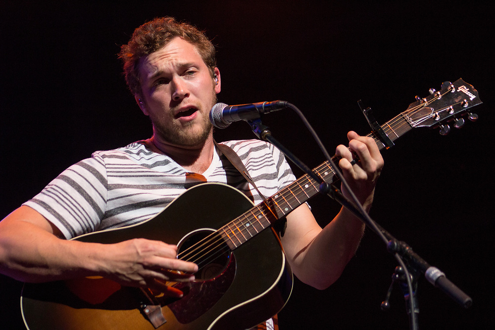 Phillip Phillips performing at Summerfest in Milwaukee, WI on July 5, 2017.