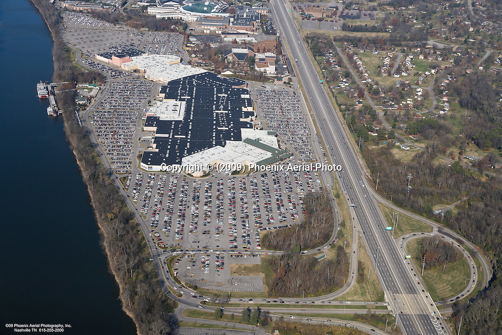 Aerial photo of the Opry Mills Mall in Nashville Tennessee on Black Friday.