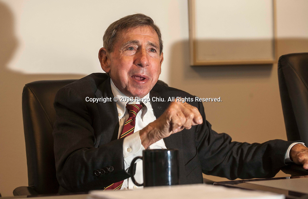 Mickey Kantor, partner at Mayer Brown law firm's L.A. office; head of firm's international trade practice in L.A. and former U.S. Commerce Secretary in Clinton administration. (Photo by Ringo Chiu/PHOTOFORMULA.com)