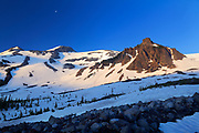 Mount Rainier National Park wilderness near Panhandle Gap along the Wonderland trail in winter