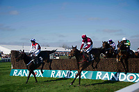 Grand National Meeting - Ladies' Day<br /> e.g. of caption:<br /> National Hunt Horse Racing - 2017 Randox Grand National Festival - Friday, Day Two [Ladies' Day]<br /> <br />  Nike De Bonville on Josse's Hill leads the field  in the 4th race 15.25 JLT Melling Chase (Grade 1) (Class 1)<br /> 2m 3f 200y, Good 9 Runners at Aintree Racecourse.at Aintree Racecourse.<br /> <br /> COLORSPORT/WINSTON BYNORTH