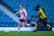 Kim Little (#8) of Scotland bursts into the penalty area during the International Friendly match between Scotland Women and Jamaica Women at Hampden Park, Glasgow, United Kingdom on 28 May 2019.