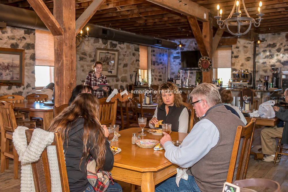 People dinning at the Mountain View Barn, Jerome, Idaho. MR