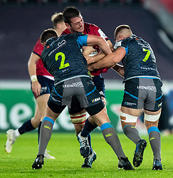 Jean Kleyn of Munster <br /> <br /> Photographer Simon King/Replay Images<br /> <br /> European Rugby Champions Cup Round 1 - Ospreys v Munster - Saturday 16th November 2019 - Liberty Stadium - Swansea<br /> <br /> World Copyright © Replay Images . All rights reserved. info@replayimages.co.uk - http://replayimages.co.uk