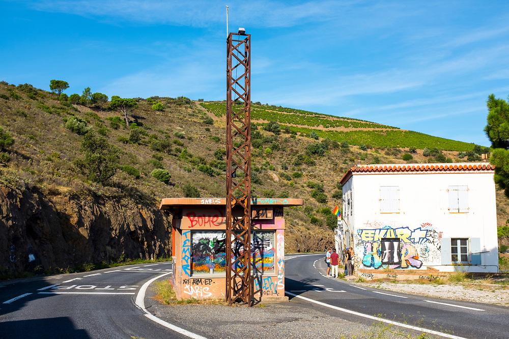 France-Spain border on the Mediterranean coast, Pyrenees Orientale, France