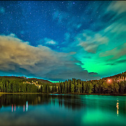 This was unexpected aurora, northern light in Trondheim. I was just out to take some night photos but fortunately I could see some green light as well. Baklidammen is a dam in Bymarka in Trondheim municipality in Sør-Trøndelag . The dam is located just west of Theisendammen , between Fjellseterveien and Old Bynesveg. For print version please see  Here