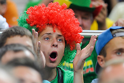 Supporters of Lithuania during friendly match between National Teams of Slovenia and Lithuania before World Championship Spain 2014 on August 18, 2014 in Kaunas, Lithuania. Photo by Robertas Dackus / Sportida.com