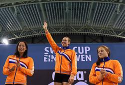05-04-2015 NED: Swim Cup, Eindhoven<br /> Femke Heemskerk wordt Nederlands kampioen op de 100 meter, Ranomi Kromowodjojo zilver en Maud van der Meer het brons