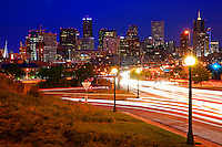 Speer Avenue @ Night, Downtown Denver