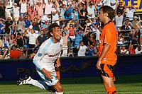 FOOTBALL - FRENCH CHAMPIONSHIP 2010/2011 - L1 - OLYMPIQUE DE MARSEILLE v FC LORIENT - 21/08/2010 - PHOTO PHILIPPE LAURENSON / DPPI - GABRIEL HEINZE (OM) JOY