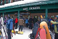 The lift ticket line, Alpine Meadows, Lake Tahoe, California