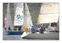 The Brewin Dolphin Scottish Series, Tarbert Loch Fyne...Summer Shirts on GBR4589R Prospero of Hamble BBCYC Allan Fraser.