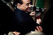 Former Prime Minister Silvio Berlusconi attends the launch of the book 'Sale, Zucchero e Caffe' by journalist Bruno Vespa at the hall of the 'Tempio di Adriano'. Rome December 4, 2013.  Christian Mantuano / OneShot