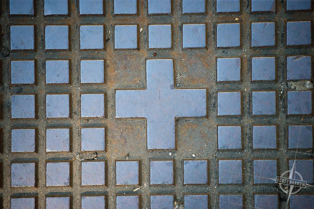 Manhole cover in Zurich Switzerland near the Main Train Station.