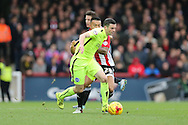 Brighton winger, Jamie Murphy (15) during the Sky Bet Championship match between Brentford and Brighton and Hove Albion at Griffin Park, London, England on 26 December 2015.
