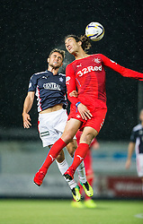 Falkirk's Tom Taiwo and Rangers Mohsni. Falkirk 1 v 3 Rangers, Scottish League Cup game played 23/9/2014 at The Falkirk Stadium.