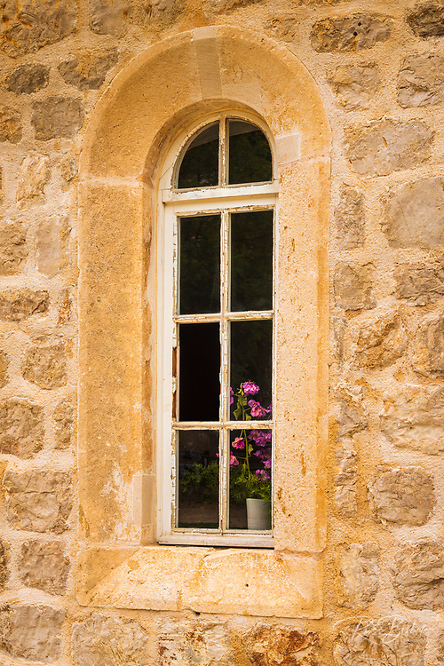Window at the Church of St George, Sudurad, Sipan Island, Dalmatian Coast, Croatia