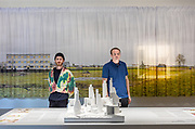Venice, Biennale Architettura: Poland Pavillon, curator form left Rafal Sliwa and Bartosz Kowal