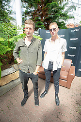 Theo Ellis and Joff Oddie from Wolf Alice interviews by Virgin Radio, on Saturday 30th June at TRNSMT 2018.