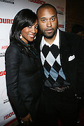 """l to r: Shawn Robinson and Londell McmillanLou at The Russell Simmons and Spike Lee  co-hosted""""I AM C.H.A.N.G.E!"""" Get out the Vote Party presented by The Source Magazine and The HipHop Summit Action Network held at Home on October 30, 2008 in New York City"""