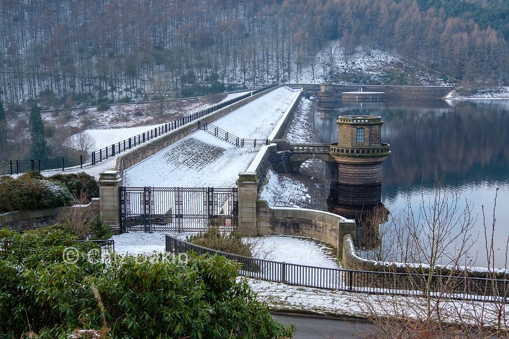 Ladybower dam wall