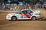 Ed Ordynski & Iain Stewart - Mitsubishi Lancer RS Evo V Saxon Safari Tasmania - ARC- 11th-12th September 1999