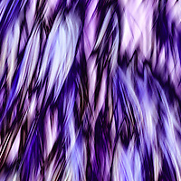 """""""Crystal Plumage""""<br /> <br /> A wonderful abstract in shades of blue and purple!"""