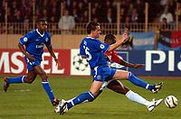 Fotball<br /> Champions League 2003/04<br /> Semifinale, første kamp<br /> Monaco v Chelsea<br /> 20. april 2004<br /> Foto: Digitalspot<br /> NORWAY ONLY<br /> <br /> GOAL SHABANI NONDA (MON) / JOHN TERRY (CHE)