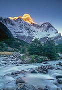 Dawn, Paine Grande, Frances valley, Torres del Paine, Patagonia, Chile