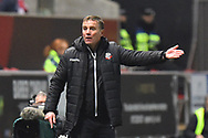 Bolton Wanderers manager Phil Parkinson gestures to the officials after an incident on the pitch during the The FA Cup fourth round match between Bristol City and Bolton Wanderers at Ashton Gate, Bristol, England on 25 January 2019.