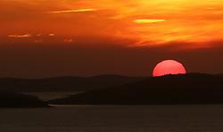 THEMENBILD - Sonnenuntergang im Saint Anthony's Channel in Siebernik, Kroatien am 2. Jänner 2015 // Magical sunset in the channel of St. Anthony in  Sibernik, Croatia on 2015/01/02. EXPA Pictures © 2015, PhotoCredit: EXPA/ Pixsell/ Dusko Jaramaz<br /> <br /> *****ATTENTION - for AUT, SLO, SUI, SWE, ITA, FRA only*****