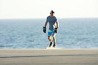 22 January 2011:  Former professional ice hockey player Darren Partch plays PBHA outdoor roller hockey on the blacktop in Newport Beach, CA.  ©ShellyCastellano.com