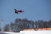 Xuetong Cai, China, during the womens halfpipe final at the Pyeongchang Winter Olympics on 13th February 2018 at Phoenix Snow Park in South Korea