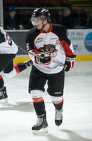 KELOWNA, CANADA, DECEMBER 3: Cody Carlson #5 of the Prince George Cougars warms up on the ice as the Prince George Cougars visit the Kelowna Rockets  on December 3, 2011 at Prospera Place in Kelowna, British Columbia, Canada (Photo by Marissa Baecker/Shoot the Breeze) *** Local Caption ***