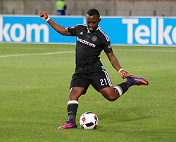 Patrick Phungwayo of Orlando Pirates during the 2016 Premier Soccer League match between Chippa United and Orlando Pirates held at the Nelson Mandela Bay Stadium in Port Elizabeth, South Africa on the 22th November  2016.<br /> <br /> Photo by:   Richard Huggard / Real Time Images