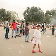 Travels around Delhi, capital of India. Gate of India.