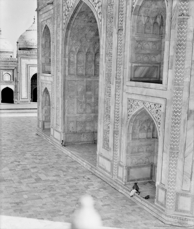 View of Taj Mahal from one of the minarets, Agra, India, 1929