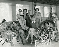 1931 Ladies relax on the porch at the Hollywood Studio Club