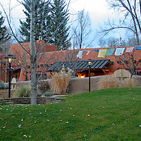 North America, United States, New Mexico, Taos. El Monte Sagrado eco-resort centered around the Sacred Circle.
